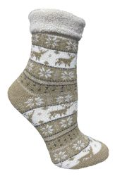 48 Units of Yacht & Smith Womens Thick Soft Knit Wool Warm Winter Crew Socks, Patterned Lambswool, FAIR ISLE PRINT - Womens Thermal Socks