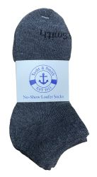 72 Units of Yacht & Smith Kids Unisex Low Cut No Show Loafer Socks Size 6-8 Solid Gray - Boys Ankle Sock