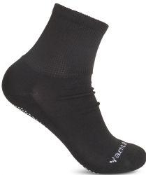 48 Units of Yacht & Smith Mens Multi Purpose Diabetic Black Rubber Silicone Gripper Bottom Slipper Sock Size 10-13 - Mens Crew Socks
