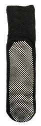 60 Units of Yacht & Smith Mens Multi Purpose Diabetic Black Rubber Silicone Gripper Bottom Slipper Sock Size 10-13 - Mens Crew Socks