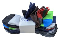 240 Units of Yacht & Smith Assorted Pack Of Mens Low Cut Printed Ankle Socks Bulk Buy - Mens Ankle Sock