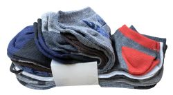 300 Units of Yacht & Smith Assorted Pack Of Mens Low Cut Printed Ankle Socks Bulk Buy - Mens Ankle Sock