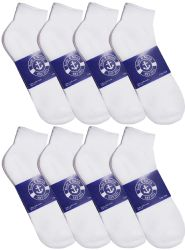 48 Units of Yacht & Smith Womens Cotton White Sport Ankle Socks, Sock Size 9-11 - Womens Ankle Sock