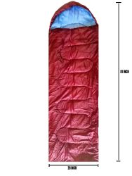 12 Units of Adults Sleeping Bag In Burgundy Bulk Buy - Sleep Gear
