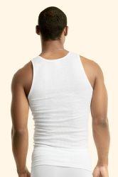 144 Units of Men's First Quality White A-Shirts Size XL - Mens T-Shirts