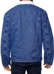 12 Units of Mens Denim Fleece Jacket - Mens Jackets