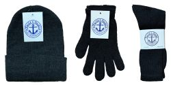 360 Units of Winter Bundle Care Kit, For Men Includes Tube Socks Beanie And Glove - Winter Care Sets