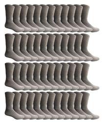 60 Units of Yacht & Smith Men's Cotton Crew Socks Gray Size 10-13 Bulk Pack - Mens Crew Socks