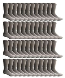 180 Units of Yacht & Smith Men's Cotton Crew Socks Gray Size 10-13 Bulk Pack - Mens Crew Socks