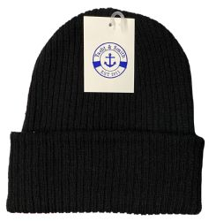 36 Units of Yacht & Smith Unisex Black Stretch Ribbed Sherpa Beanie, Super Warm Winter Beanie - Winter Beanie Hats
