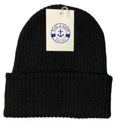 240 Units of Yacht & Smith Unisex Black Stretch Ribbed Sherpa Beanie, Super Warm Winter Beanie - Winter Beanie Hats
