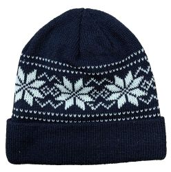 120 Units of Yacht & Smith Unisex Snowflake Fleece Lined Winter Beanie 6 Colors - Winter Beanie Hats