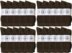 72 Units of Yacht & Smith Women's Sports Crew Socks, Size 9-11, Brown - Womens Crew Sock