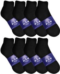12 Units of Yacht & Smith Womens Lightweight Cotton Sport Black Quarter Ankle Socks, Sock Size 9-11 - Womens Ankle Sock