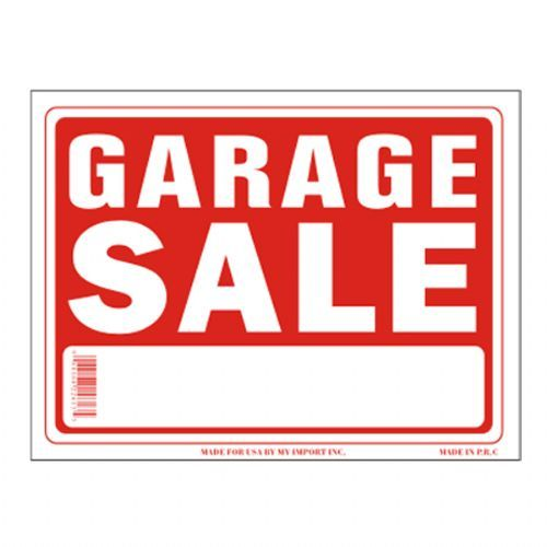 96 Units of Sign 9in x 12in Garage Sale - Signs & Flags