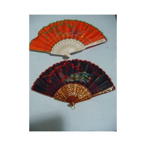 100 Units of Folding Cloth Fan - Home Decor