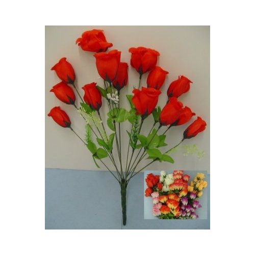 100 Units of 14 Head Silk Flower-Rosebuds - Floral/Branches