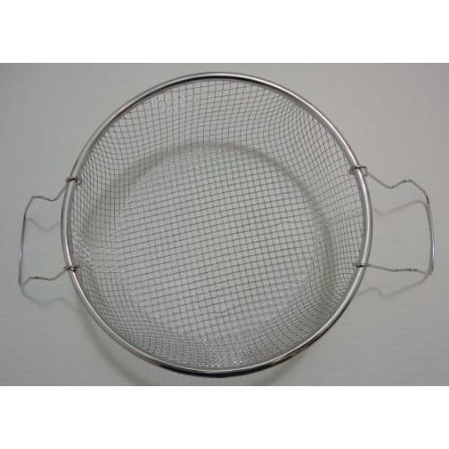 "100 Units of 8.5"" Round Metal Strainer with Two Handles [Deep Fryer Basket] - Kitchen > Accessories"