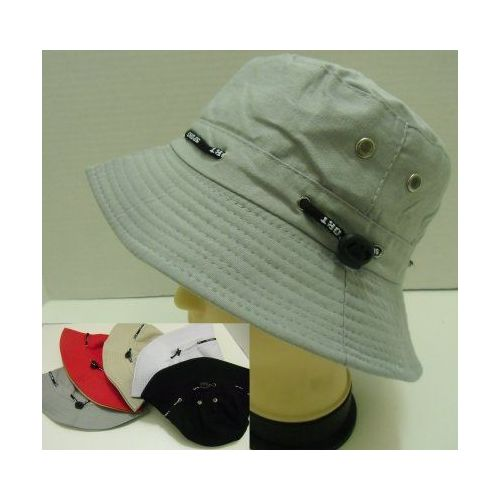 6b46113b1db 144 Units of Solid Color Bucket Hat with Drawstring - Bucket Hats ...