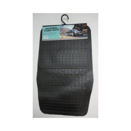 24 Units of 4pc Universal Floor Mats-Black Plastic - AUTO SUNSHADES/MATS