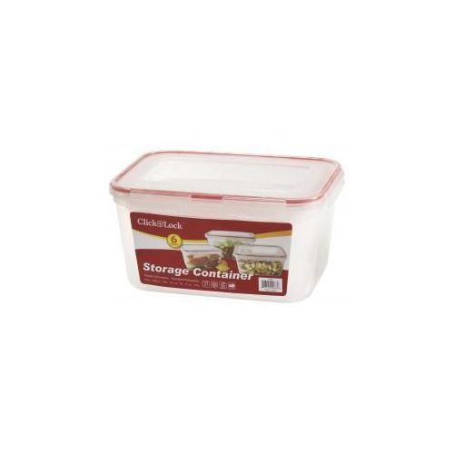 6 Units Of 6 Pc Rectangular Plastic Container W/ Click U0026 Lock Lids   Food  Storage Bags U0026 Containers