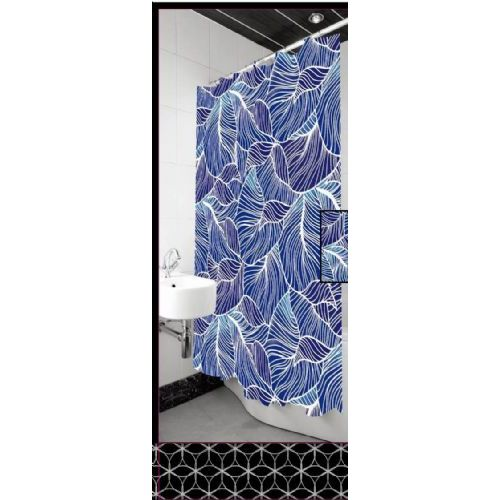12 Units Of Polyester Deluxe Shower Curtain 72x72
