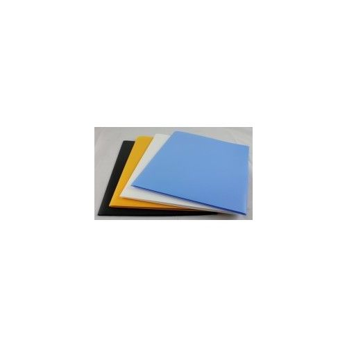 "100 Units of Two Pocket Folders -Plastic -8.5""x11"" size paper-asstd colors. - FOLDERS/REPORT COVERS"