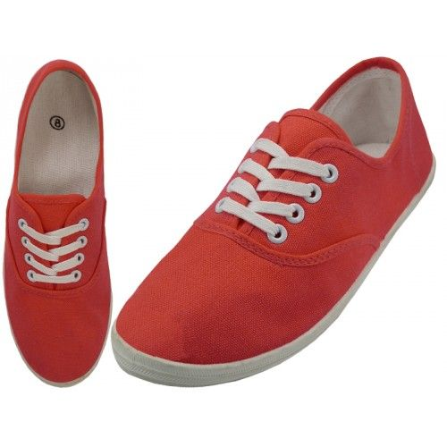 Casual Canvas Shoes ( *red Coral Color