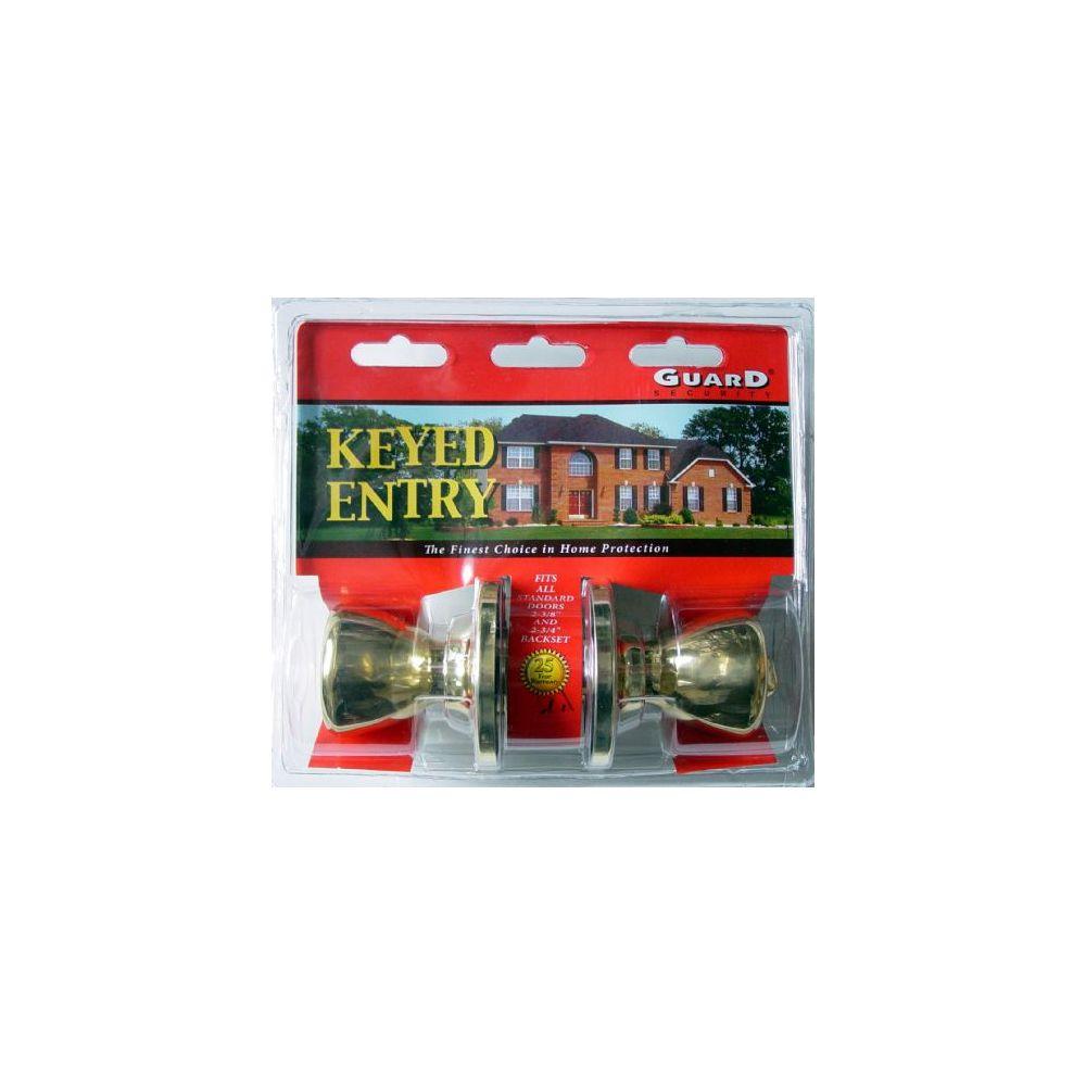 6 Units of Brass Keyed Entry Doorknob Set