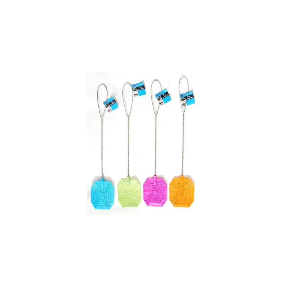 48 Units of Fly Swatter With Heavy Metal Handle