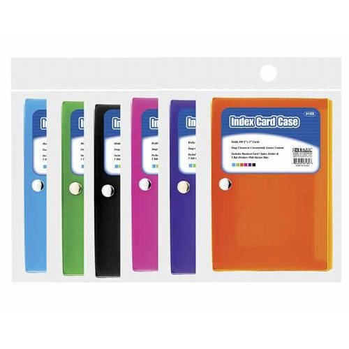 36 units of bazic 3 x 5 index card case w 5 tab divider labels cards and index cards