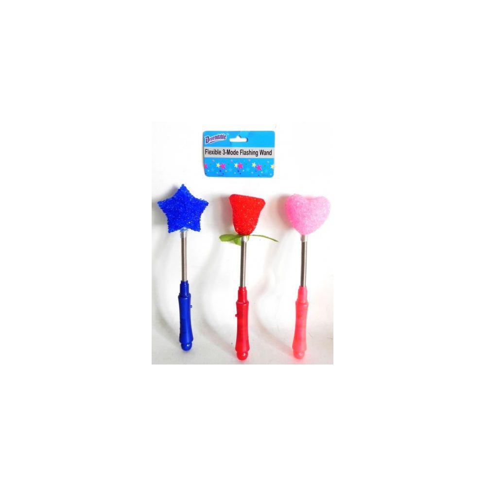48 Units of Flexible 3 Mode Flashing Wand LED Glow Stick - LED Party Items