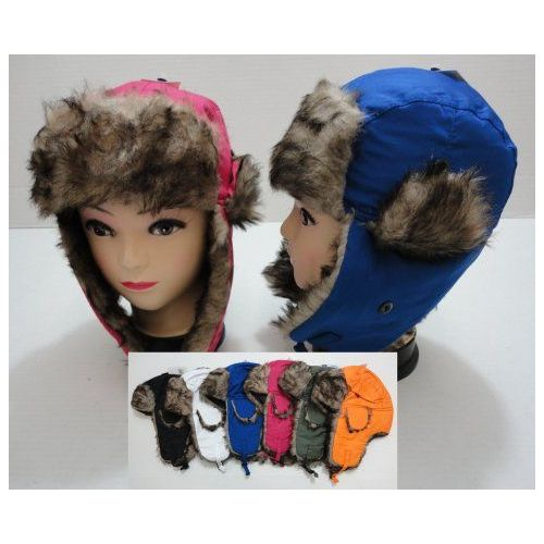 7ded274d6ca 24 Units of Child s Bomber Hat with Fur Lining--Solid Color - Junior   Kids  Winter Hats - at - alltimetrading.com