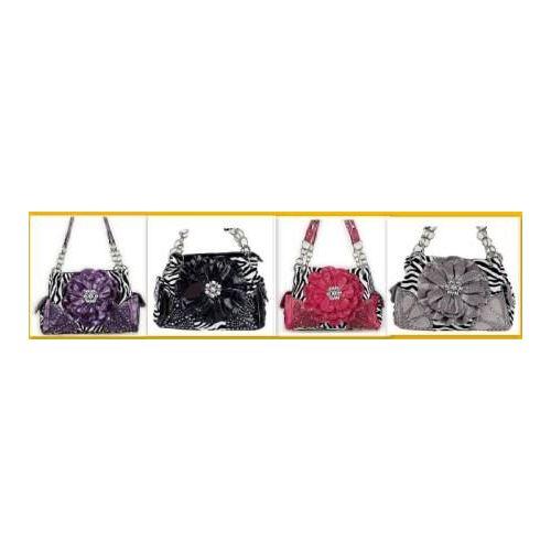 36 Units of Rhinestone Flower Fashion Purse W  Chain Handles - Leather  Purses and Handbags - at - alltimetrading.com 62df279dbef10