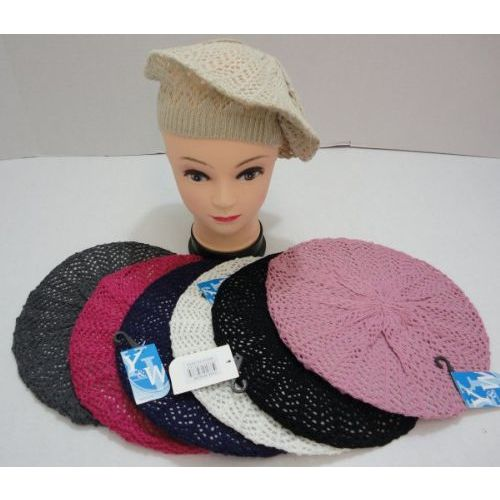Loose Beret Knitting Pattern : 12 Units of Knit Beret [Loose Knit] - at - alltimetrading.com