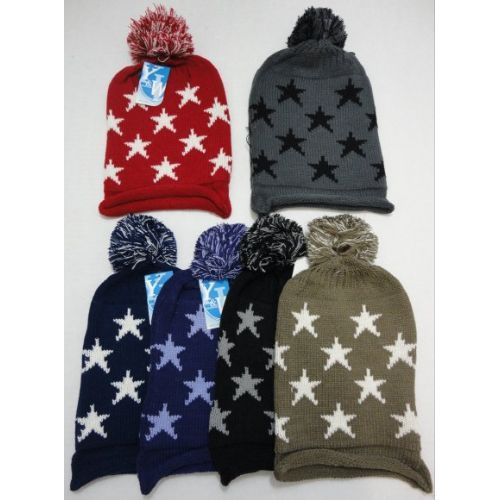 12 Units of Knitted Hat with Stars
