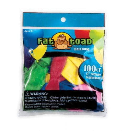 """144 Units of Fat Toad Water Balloons 2"""" 100CT - Balloons/Balloon Holder"""