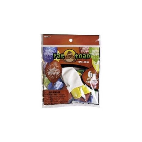"""144 Units of Fat Toad 6CT 12"""" B-Day Confetti - Balloons/Balloon Holder"""