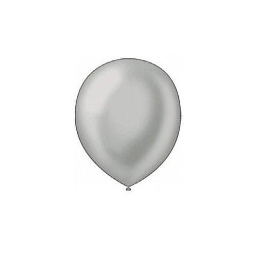 "40 Units of Fat Toad 72CT 12"" Pearl Silver - Balloons/Balloon Holder"
