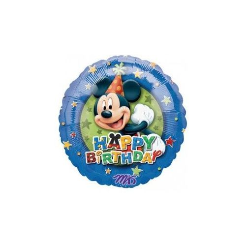 """100 Units of Mylar 18"""" LC-Happy Birthday Mickey"""