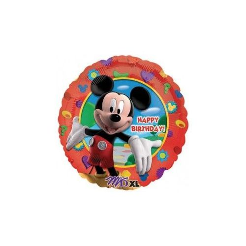 """100 Units of Mylar 18"""" LC-Happy Birthday Mickey's Clubhouse - Balloons/Balloon Holder"""