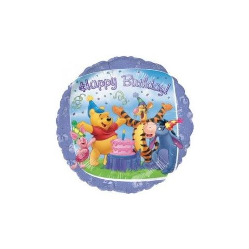 100 Units of AG 18 LC B-Day Pooh & Friends - Balloons/Balloon Holder