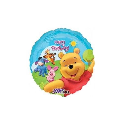 100 Units of AG 18 Pkg LC BD Pooh/Frds Sunny - Balloons/Balloon Holder