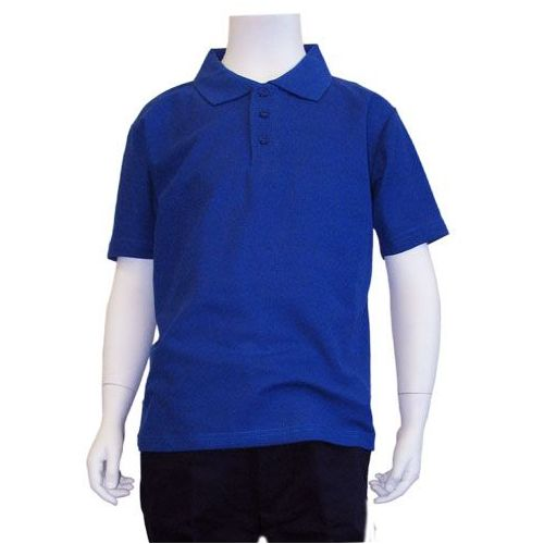 12 Units Of Boys School Uniform Polo Shirt Royal Blue