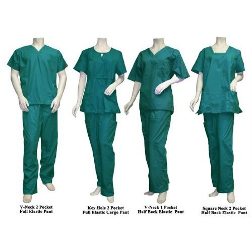 10 Units of 2 Pc Set Scrub Set Green Only - Nursing Scrubs