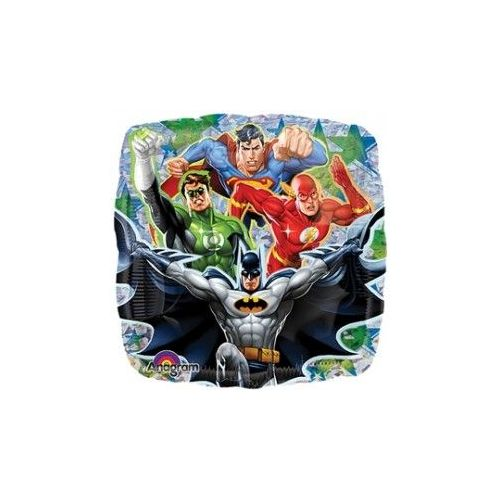 """100 Units of Mylar 18"""" LC Justice League Hologr - Balloons/Balloon Holder"""