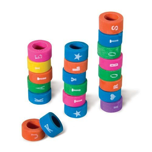 1000 Units of Alphabet Eraser Grip - Pencil Grippers / Toppers