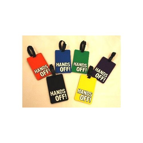 "100 Units of HANDS OFF"" Luggage Tag-Green color - Travel/ Luggage Items"