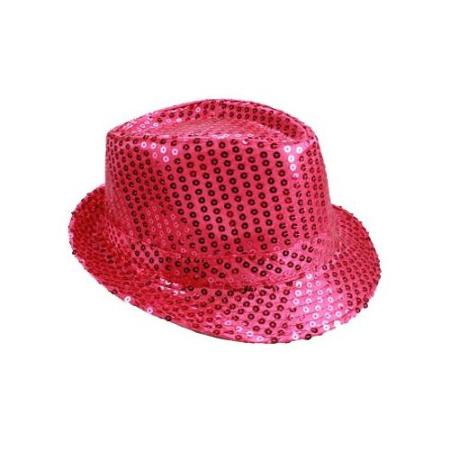 1fdec56cb8c2f 24 Units of PINK SEQUINED FEDORA HAT - Fedoras