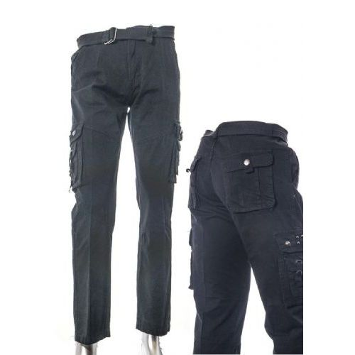 12 Units of Men's Fashion Cargo Pants 100% Cotton Size Scale A Only